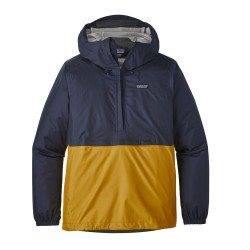 Patagonia Men's Torrentshell Pullover Navy Blue w/Rugby Yellow