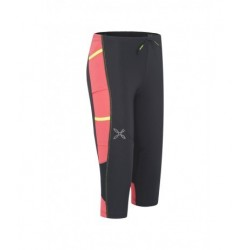 Montura ACTIVITY 3/4 PANTS WOMAN nero/coral