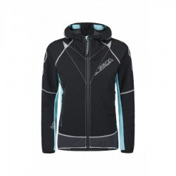 Montura RUN FLASH JACKET WOMAN NERO/ICE BLUE