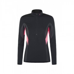 Montura RUN SOFT ZIP MAGLIA WOMAN NERO/ROSA SUGAR