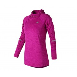 New Balance NB Heat Hoodie Poisonberry Heather