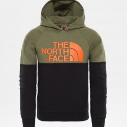 The North Face FELPA BAMBINO CON CAPPUCCIO DREW PEAK RAGLAN NEW TAUPE