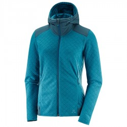 Mammut ELEVATE FZ MIDLAYER W DEEP LAGOON HEATHER