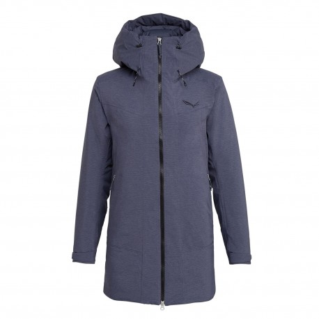 SALEWA FANES POWERSTRETCH TIROLWOOL® CELLIANT® PARKA DONNA OMBRE BLUE MELANGE