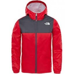 The North Face GIACCA IMPERMEABILE BAMBINO ZIPLINE TNF RED/GRAPHITE GREY