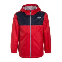 The North Face GIACCA IMPERMEABILE BAMBINO ZIPLINE HIGH RISK RED