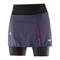 Salomon S-LAB EXO SKORT W BLACK/NIGHTSHADE GREY