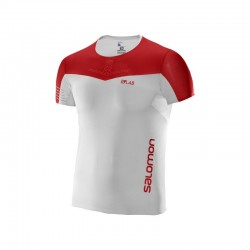 Salomon S-LAB SENSE TEE M WHITE/RACING RED
