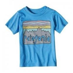 Patagonia BABY FITZ ROY SKIES COTTON/POLY T-SHIRT RADAR BLUE