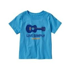 Patagonia BABY LIVE SIMPLY® GUITAR COTTON T-SHIRT