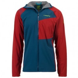 La Sportiva RUN JKT M APPAREL MOUNTAIN RUNNING - MAN OPAL/CHILI