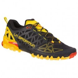 La Sportiva BUSHIDO II FOOTWEAR MOUNTAIN RUNNING - MAN BLACK/YELLOW