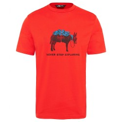 The North Face TANSA T-SHIRT FIERY RED