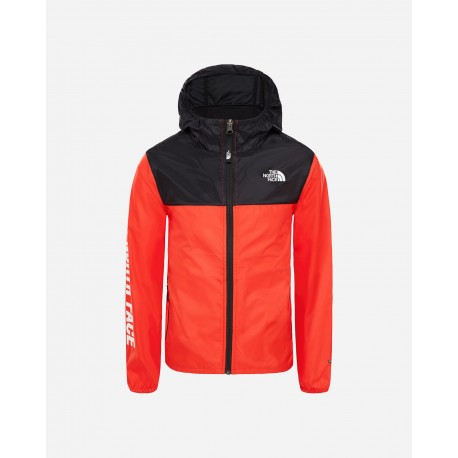 The North Face Y REACTOR WIND JACKET FIERY RED