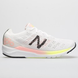 New Balance 890v7 White with Guava Glo & Bleached Lime Glo