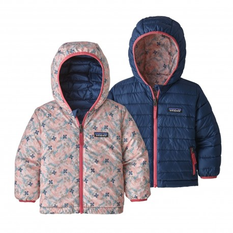 Patagonia Baby Reversible Down Sweater Hoody stories by starlight : new navy