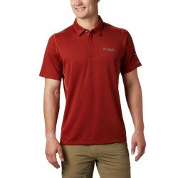 Columbia Irico Knit Polo da uomo Carnelian Red Black