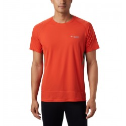 COLUMBIA T-shirt da running Titan Ultra II Short Sleeve M WILDFIRE
