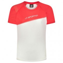 La Sportiva CATCH T-SHIRT W WHITE /HYBISCUS