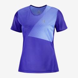 Salomon T-shirt maniche corte da donna SENSE  Clematis Blue