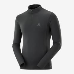 Salomon Strato intermedio con mezza zip da uomo ESSENTIAL SEAMLESS black