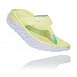 Hoka Ora Recovery Flip  Luminary Green / Blue Tint