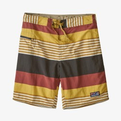 PATATGONIA Men's Wavefarer Boardshorts - 19 Fitz Stripe: Surfboard Yellow