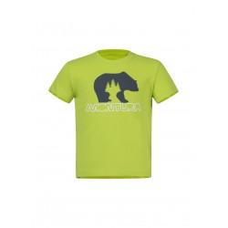 MONTURA BEAR T-SHIRT BABY VERDE LIME/BLU CENERE